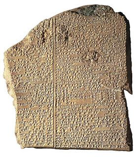 """""""Two Evidences for Noah's Flood: Fossil Graveyards and Extrabiblical Accounts."""" This link goes in detail about some of the archeological and textual evidence from ancient sources concerning the Biblical flood. The tablet pictured is from the Akkadian """"Gilgamesh Epic"""" tablet XI containing lines 1-203, """"The Tale of Utnapishtim and the Great Flood"""" approximately 2700 BCE."""