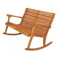 Sittin Easy High Back Oak Double Rocking Chair