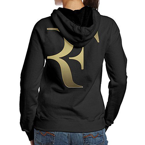 BNBN Women's Roger Tennis Federer Hoodie On The Back Size M Black *** Click on the image for additional details.