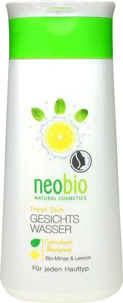 Fresh Skin gezichtswater Neobio Stimuleert en verheldert de huid na de reiniging. Biologische munt en limoen verfrissen en bereiden de huid optimaal voor op de komende verzorging. Natuurlijke reinigingsmelk, Natrue gecertificeerd, natuurlijke reiniging voor het gezicht.