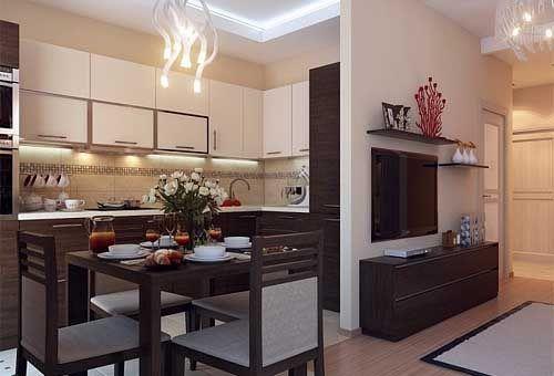 Однокомнатная квартира в хрущевке всегда кажется тесной и вызывает желание как-то расширить пространство. Предлагаем вам хороший пример дизайна однокомнатной квартиры с удобной кухней, достаточно большим санузлом, нормальным коридором, маленькой спаленкой, кабинетом и местом для отдыха.