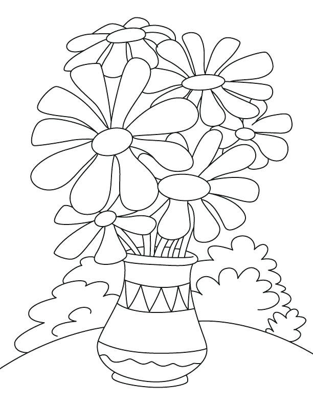 Flower Pot Coloring Pages Flower Coloring Pages Bug Coloring Pages Printable Flower Coloring Pages