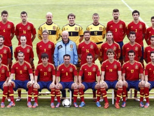 Foto oficial de España para la Eurocopa 2012