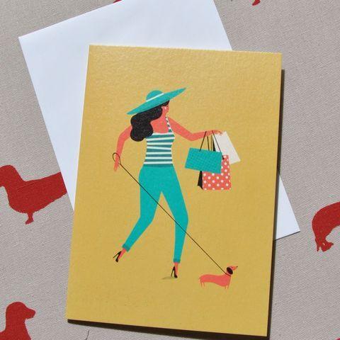 Dachshund Sausage Dog Cards Shopping Sausage