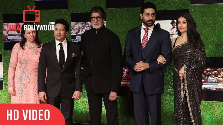 #Bachchan Family #Amitabh, #Aishwarya And #Abhishek At #SachinABillionDreams Grand Premiere