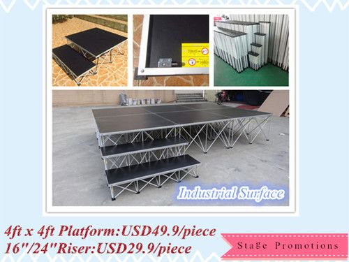 Heavy duty portable stage in promotion