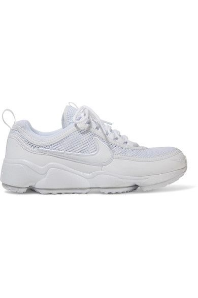 Nike - Air Zoom Spiridon Ultra Leather And Mesh Sneakers - White - US8.5