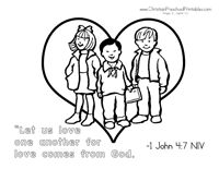 christian valentine coloring pages - photo#35