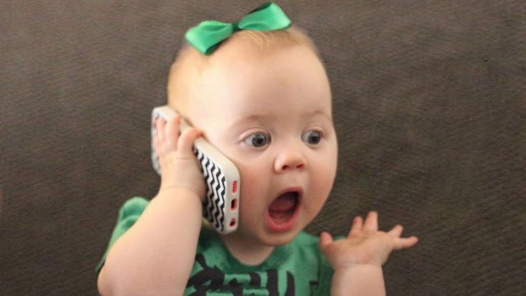CUTE babies talking on the phone |  Funny babies video compilation