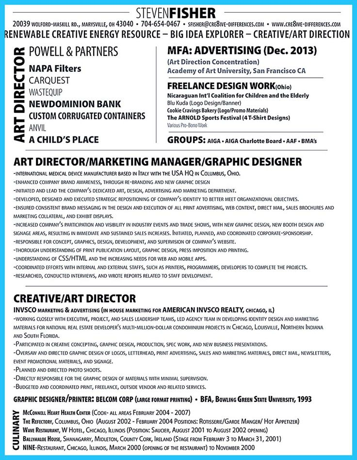 creative manager resumes