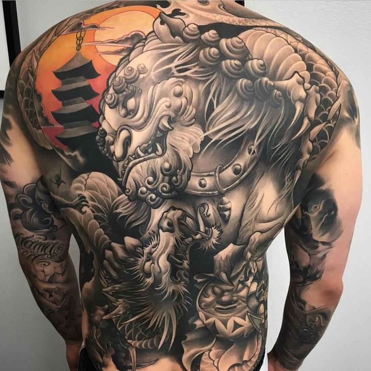 full back oriental tattoo