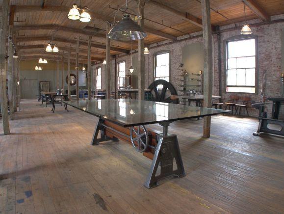 Vintage Industrial Furniture   Adjustable Cast Iron   Wood Conference Table  Base   Get Back Inc. 203 best Industrial Table images on Pinterest   Industrial table