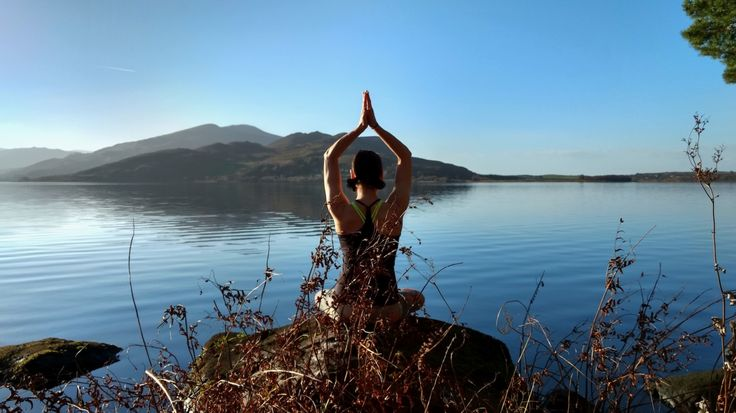 Yoga on the shores of Caragh Lake