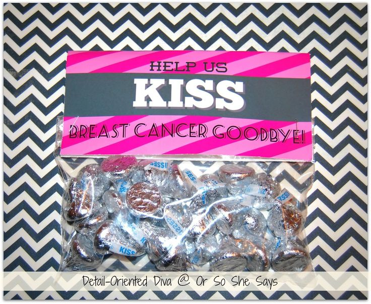 KISS breast cancer goodbye. Could be a cute fundraising idea for #The3Day.