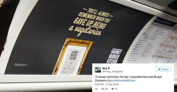 Gourmet Burger Kitchen has withdrawn recent adverts that targeted vegetarians after a massive online backlash.