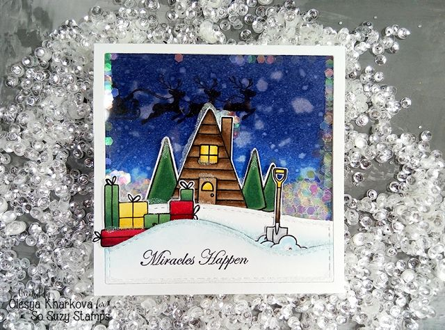 As if by magic by Olesya Kharkova: Snowy Village ft So Suzy Stamps