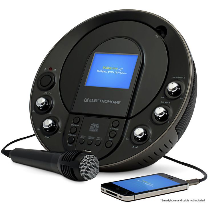 Electrohome Karaoke Machine Portable Speaker System CD+G/MP3+G Player #Electrohome