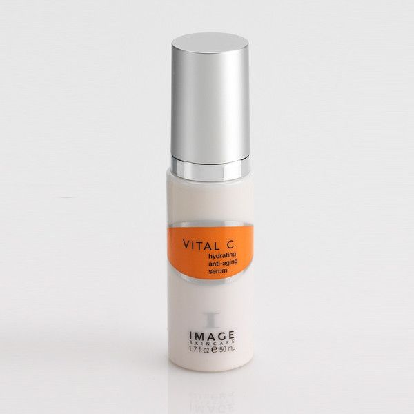 Image Skincare — Vital C Hydrating Anti Aging Serum 1.7oz.  A pharmaceutical grade Vitamin C serum that immediately minimizes and soothes the visible effects of environmentally damaged skin. Vitamins A,C and E and anti-oxidants nourish the skin to create healthy, youthful glowing skin.