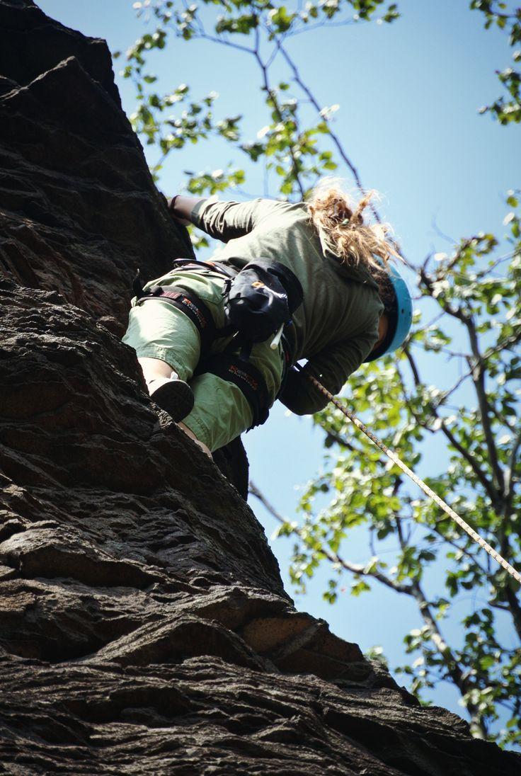 Climbing #girl #dreadlocks #rock #climbing #view