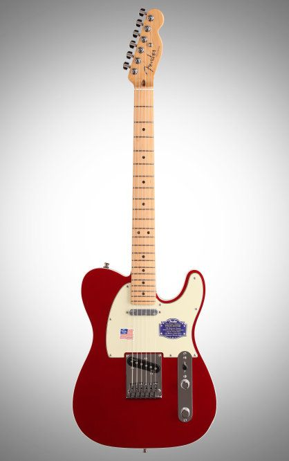 Fender American Deluxe Telecaster Electric Guitar: With a fast compound-radius maple fretboard, N3 Noiseless pickups, and Fender's ingenious S-1 switching, this USA-made Deluxe Tele just begs to be played.