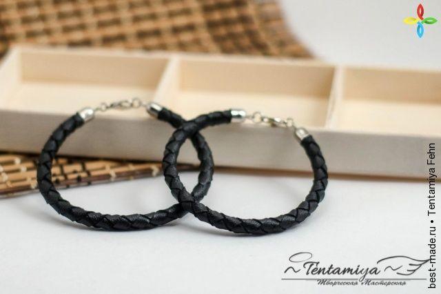 Парные браслеты из натуральной кожи, Гладкая кожа | Bestmade - изделия ручной работы