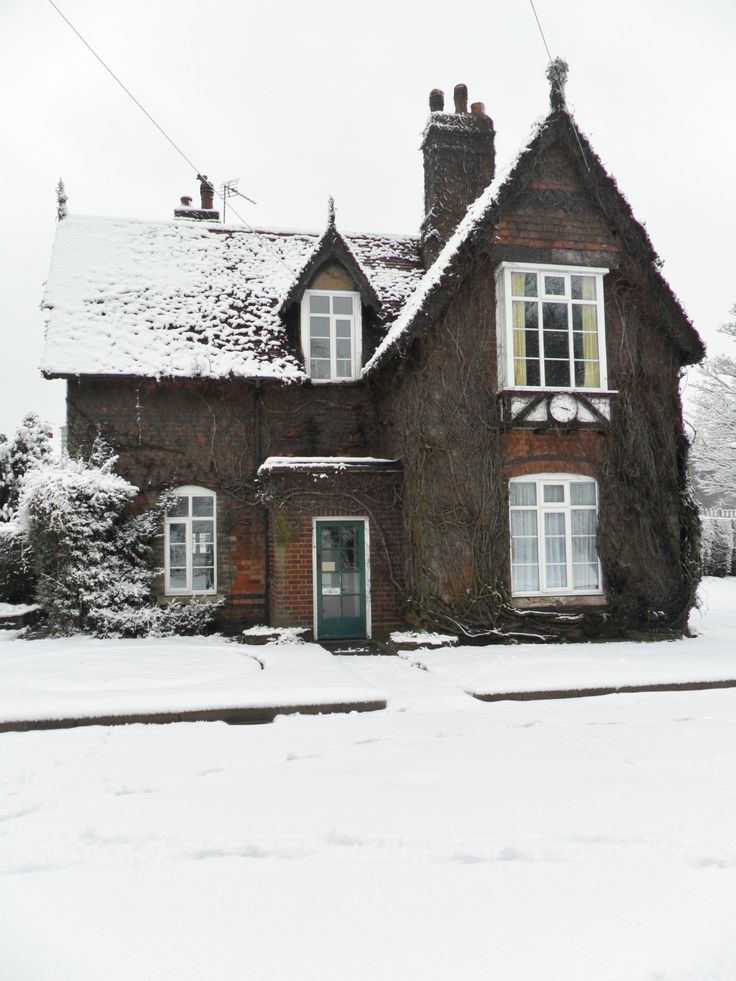 """vwcampervan-aldridge: """" Snow covered Gate keepers cottages, Dartmouth Park, Sandwell, England All Original Photography by http://vwcampervan-aldridge.tumblr.com Please visit my other blog, I can..."""