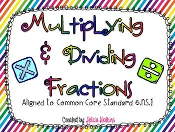 Multiplying and Dividing Fractions Task Cards CCSS 6.NS.1Task Cards, Fractions Task, Middle Schools, Schools Math, Teaching, Cards Ccss, Math Ideas, Dividers Fractions, Education Math