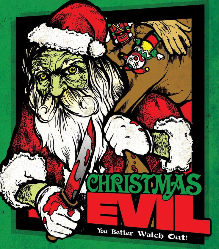 Scary creepy Santa Claus in the horror film You Better Watch Out / Christmas evil. Read more about this bloody Santa at http://www.celluloiddiaries.com/2017/11/best-christmas-horror-movies.html