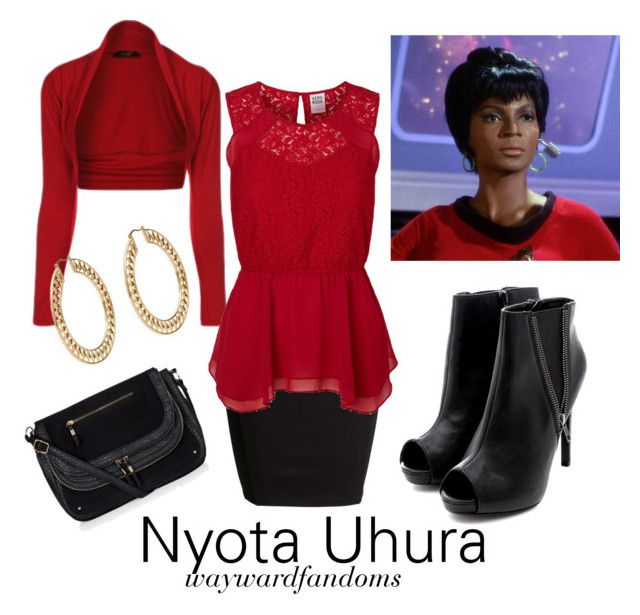 """Uhura (TOS)"" by waywardfandoms ❤ liked on Polyvore featuring SELECTED, Vero Moda, startrek and uhura"