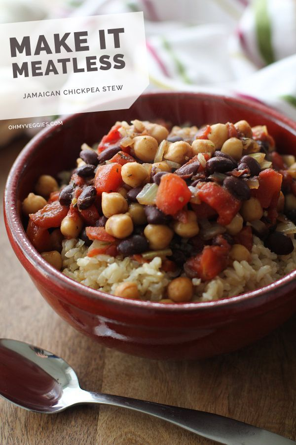 Jamaican Chickpea Stew | Oh My Veggies + The Roasted Root: Chickpea Recipes, Cook, Jamaican Recipe, Jamaican Chickpea Stew, Food, Chickpeas Stew, Jamaican Curry Recipes