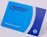 This is what the Oyster Card looks like.  Use your Oyster Card to travel around on all types of public transport in London (Tube, buses, overground trains and trams).  Please do not try to buy these online while you are still in the States; if you do, the card will not be processed until you arrive in the UK and you will still have to wait for it to arrive.  If you wait until you get to London, you can get your card immediately.