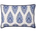 navy and white cushion