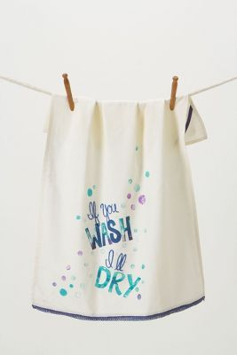 If you wash, i'll dry dishtowel - perfect towel for when my husband does the dishes!