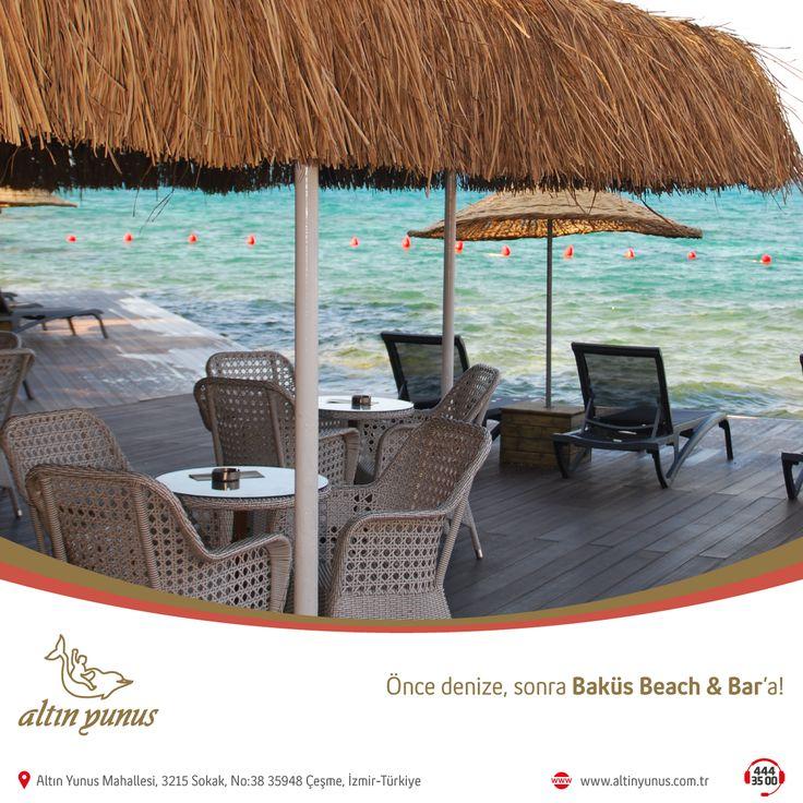 Önce denize, sonra Baküs Beach & Bar'a! Tatilin keyfini doya doya çıkarın diye, en özel lezzetlerimizle sizinleyiz.