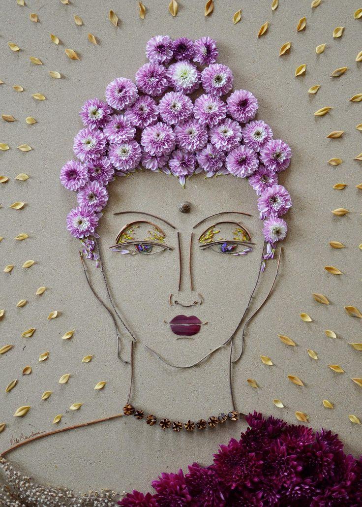 """Buddha"" Flower Face Print"