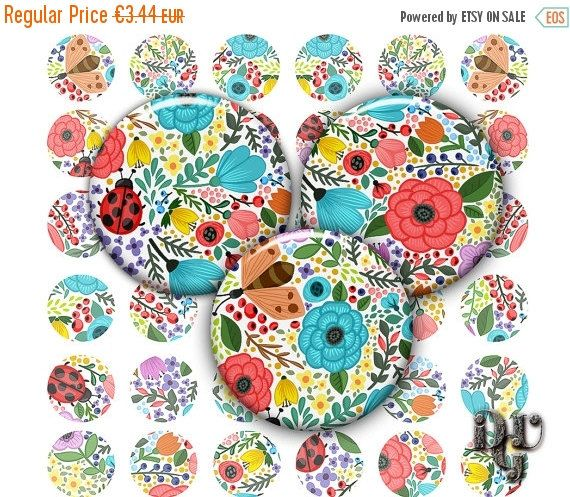 35% OFF SALE Digital Collage Sheet 1 inch round by DreamUpGraphic
