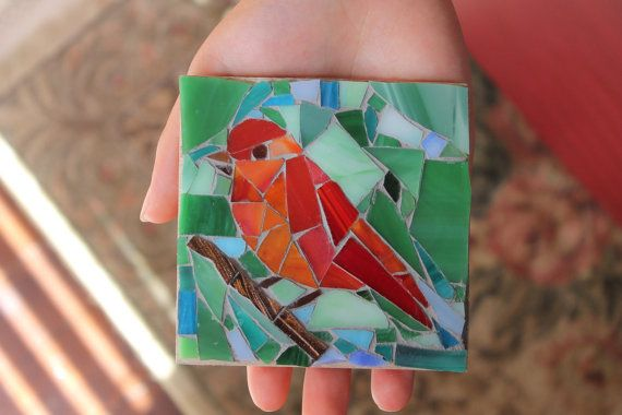 Bird on a different branch by MadeByNatalieK on Etsy, $35.00