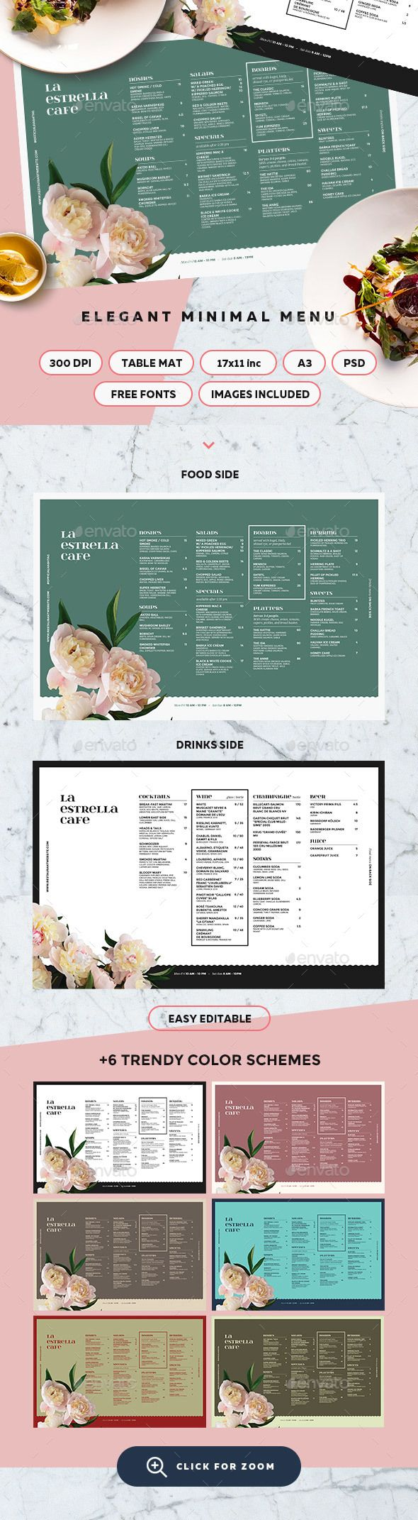 Menu Template  — PSD Template • Only available here ➝…