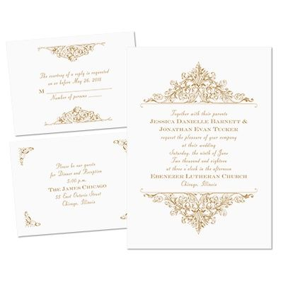 Vintage Victorian Separate and Send Wedding Invitations at Ann's Bridal Bargains