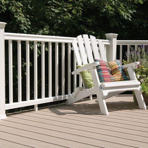 Barandas de madera sintetica de la marca timbertech for Barandillas de madera para jardin