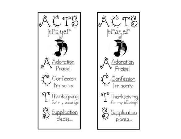 ACTS prayer bookmark