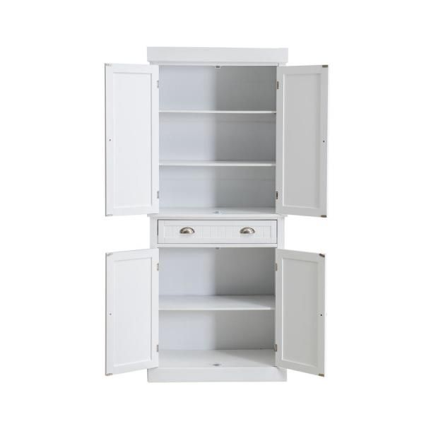 Sunjoy Castro White Wood Decorative Storage Cabinet B212000500 The Home Depot Cabinets Shelving
