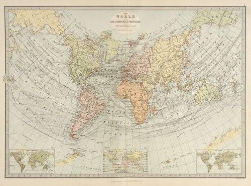 The World on Sir J. Herschel's Projection, 1882.