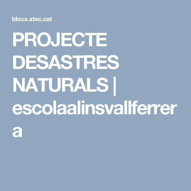 PROJECTE DESASTRES NATURALS   escolaalinsvallferrera