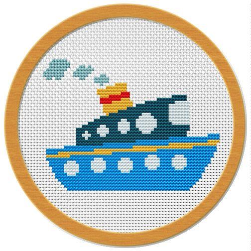 Cross stitch pattern sampler PDF file by Atinyshop on Etsy, $4.00