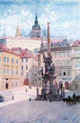 Plague Column Of St. Trinity de Vaclav Jansa (1859-1913, Czech Republic)
