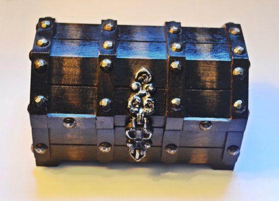 Wood Jewelry Box Treasure Chest Jewelry Box by Collectitorium