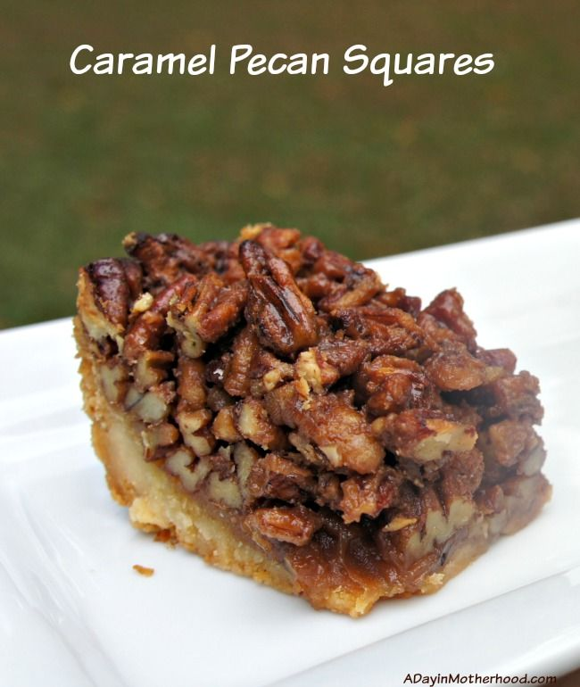 Caramel Pecan Bars | Recipe | Watches, Squares and Eyes