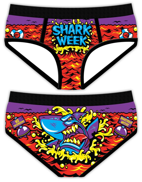 Shark Week Period Panties by Anthony Hall, via Behance. This may be the best thing I've ever seen