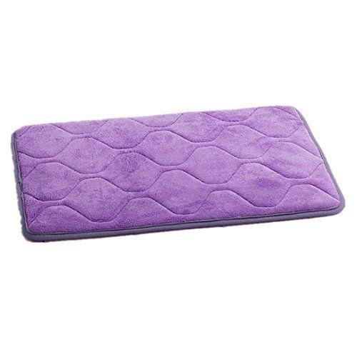 Komanic Simple Deluxe Large Anti Slip Memory Foam Bath Mats, Long, Purple, http://www.amazon.com/dp/B01FWFR15O/ref=cm_sw_r_pi_awdm_x_OzbbybEMRV6ME